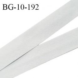Biais galon 10 mm pré plié au dos 2 rabats de 5 mm coton polyester couleur gris perle largeur 10 mm prix au mètre