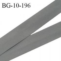 Biais galon 10 mm pré plié au dos 2 rabats de 5 mm coton polyester couleur gris taupe largeur 10 mm prix au mètre