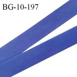 Biais galon 10 mm pré plié au dos 2 rabats de 5 mm coton polyester couleur bleu lavande largeur 10 mm prix au mètre