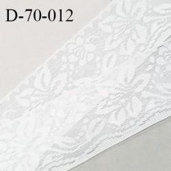Dentelle 70 mm lycra élastique avec anti glisse couleur écru fabriqué en France pour une grande marque souple prix au mètre