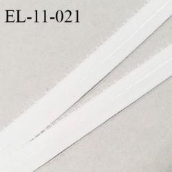 Elastique picot 11 mm anti-glisse couleur écru milk largeur 11 mm largeur de la bande anti glisse 5 mm prix au mètre