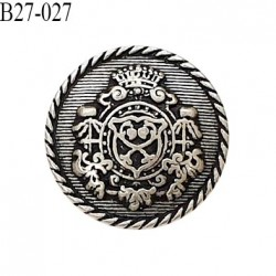 Bouton 27 mm style ancien en métal accroche avec un anneau diamètre 27 mm prix à l'unité