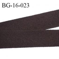 Ruban galon 16 mm gros grain synthétique couleur marron largeur 16 mm prix au mètre