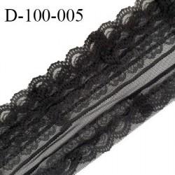 Dentelle 100 mm synthétique couleur noir prix au mètre