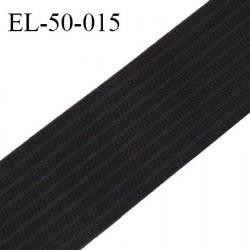 Elastique 50 mm respirant bonne élasticité style velours velcro couleur noir largeur 50 mm prix au mètre