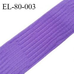 Elastique 80 mm respirant bonne élasticité style velours velcro couleur violet clair largeur 80 mm prix au mètre