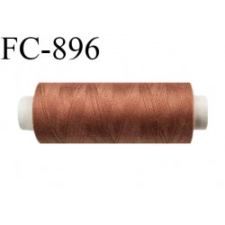 Bobine 500 m fil Polyester n° 120  marron cuivre 500 mètres fil européen bobiné en Europe ou France certifié oeko tex
