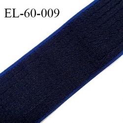 Elastique 70 mm respirant bonne élasticité style velours velcro couleur noir sur élastique bleu largeur 70 mm prix au mètre