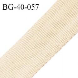 Déstockage Biais sergé 40 mm galon ruban 100% coton couleur écru chiné largeur 40 mm prix au mètre