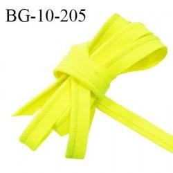 Passepoil 10 mm couleur jaune fluo largeur 10 mm avec cordon intérieur 2 mm prix au mètre
