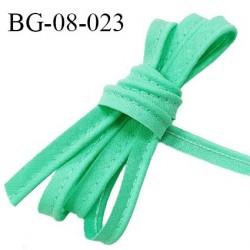 Passepoil 8 mm avec un cordon intérieur largeur 2 mm couleur vert jade largeur 10 mm prix au mètre