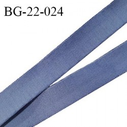Devant bretelle 22 mm en polyamide attache bretelle rigide pour anneaux couleur encre bleue haut de gamme prix au mètre