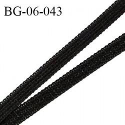 Droit fil à plat 6 mm spécial lingerie et couture du prêt-à-porter couleur noir grande marque fabriqué en France prix au mètre