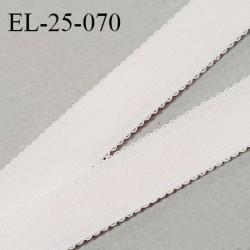 Elastique 24 mm bretelle et lingerie haut de gamme couleur blush largeur 24 mm fabriqué en France prix au mètre