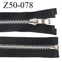 Fermeture zip 50 cm séparable couleur noir zip glissière métal largeur 7 mm longueur 50 cm largeur 32 mm prix à l'unité