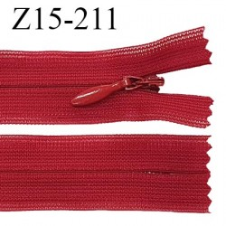 Fermeture zip YKK 15 cm non séparable couleur rouge zip glissière nylon invisible prix à l'unité