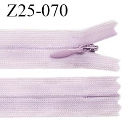 Fermeture zip YKK 25 cm non séparable couleur parme zip glissière nylon invisible prix à l'unité
