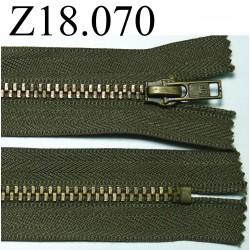 fermeture éclair verte longueur 18 cm couleur vert kani non séparable zip métal largeur 2.8 cm