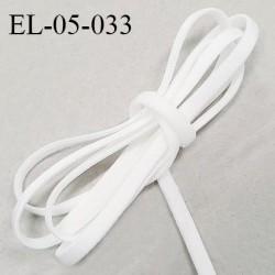 Elastique 5 mm lingerie haut de gamme fabriqué en France couleur écru satiné largueur 5 mm légèrement bombé prix au mètre