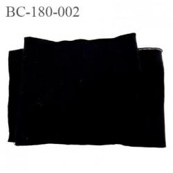 Bord côte 180 mm jersey noir synthétique haut gamme provient d'une grande marque française largeur 180 mm longueur 120 cm