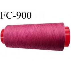 Cone 2000 m de fil mousse polyester  fil n° 110 couleur fushia haut de gamme cône de 2000 mètres bobiné en France