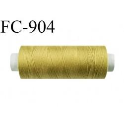 Bobine 500 m fil Polyester n° 120  caca d'oie doré  500 mètres fil européen bobiné en Europe ou France certifié oeko tex