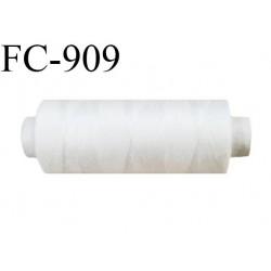 Bobine 500 m fil Polyester n° 120 couleur naturel  longueur 500 mètres fil européen bobiné en Europe ou France certifié oeko tex