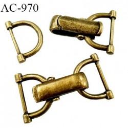 brandebourg ou attache 50 mm métal style laiton ancien largeur total 50 mm prix à l'unité composé des 2 éléments