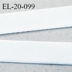 Elastique 21 mm spécial lingerie sport caleçon bonne élasticité avec une face style velours couleur blanc prix au mètre