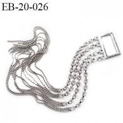 Etrier strass longueur 21 cm  cm largeur intérieur 20 mm strass style diamant