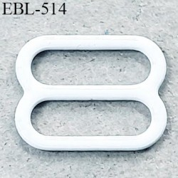 Boucle de réglage 11 mm réglette métal plastifié blanc brillant  largeur 11 mm intérieur prix à l'unité haut de gamme