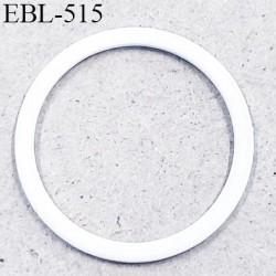 anneau en métal 6 mm laqué blanc  brillant  pour soutien gorge diamètre intérieur 6 mm prix à l'unité haut de gamme