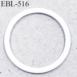 Anneau en métal 13 mm laqué blanc  brillant  pour soutien gorge diamètre intérieur 13 mm prix à l'unité haut de gamme