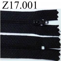 fermeture éclair longueur 17 cm couleur noir non séparable zip nylon largeur 2.5 cm