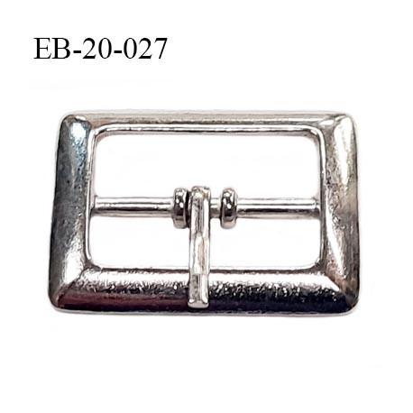 Boucle ceinture 20 mm avec ardillon en métal chromé largeur intérieur 2 cm  hauteur 22 mm extérieur 28 mm
