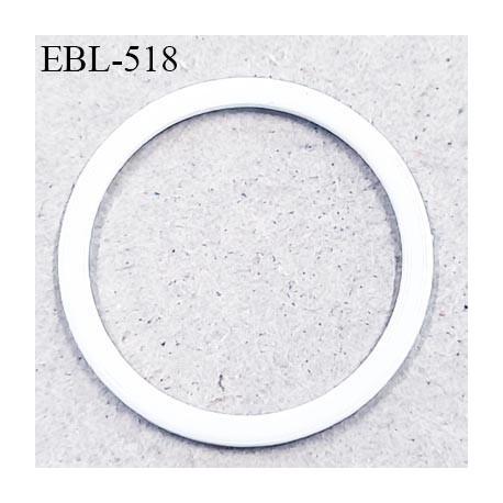 Anneau en métal 16 mm laqué blanc  brillant  pour soutien gorge diamètre intérieur 16 mm prix à l'unité haut de gamme