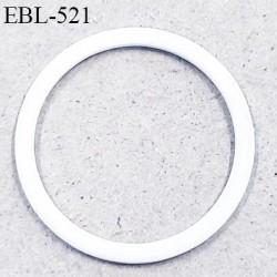 Anneau en métal 20 mm laqué blanc  brillant  pour soutien gorge diamètre intérieur 20 mm prix à l'unité haut de gamme