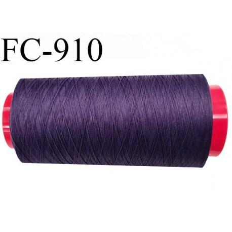 Cone 2000 m de fil mousse polyamide fil n° 120 couleur violet volubilis  longueur de 2000 mètres bobiné en France