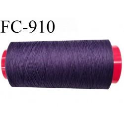 Cone 5000 m de fil mousse polyamide fil n° 120 couleur violet volubilis  longueur de 5000 mètres bobiné en France