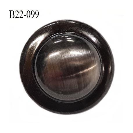 Bouton 22 mm  en métal bombé couleur acier chromé accroche avec un anneau au dos diamètre 22 mm épaisseur 9 mm prix à l'unité