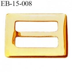 Boucle 15 mm métal brillant doré or très belle largeur extérieur 2 cm largeur intérieur 15 mm 17 mm de hauteur prix à la pièce