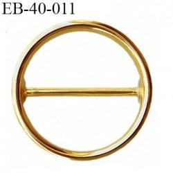 Boucle 40 mm en métal doré or  diamètre extérieur 48 mm diamètre intérieur 40 mm épaisseur 4 mm prix à la pièce