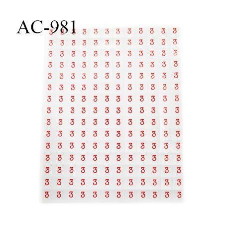 Feuille de 180 étiquettes autocollantes taille 3 dimension de l'étiquette 8 mm par 8 mm prix de la feuille