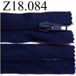 fermeture éclair  longueur 18 cm couleur bleu foncé non séparable zip nylon largeur 3.2 cm