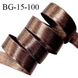 Ruban satin 15 mm couleur marron 100% polyester largeur 15 mm prix au mètre