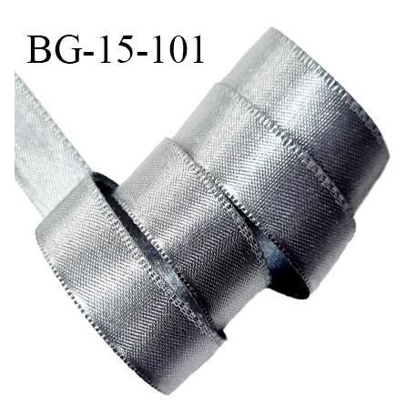 Ruban satin 15 mm couleur gris 100% polyester largeur 15 mm prix au mètre