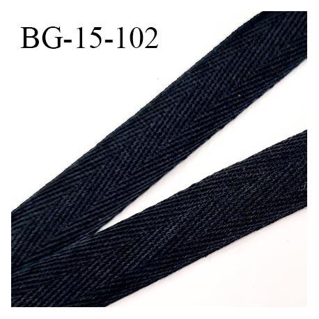 Biais sergé 15 mm souple couleur noir largeur 15 mm prix au mètre