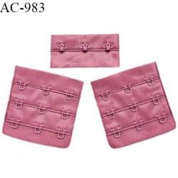 Agrafe 57 mm attache SG haut de gamme couleur rose ballerine 3 rangées 3 crochets fabriqué en France prix à l'unité