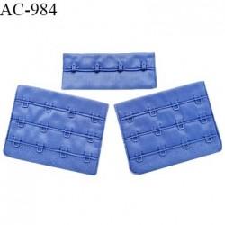 Agrafe 76 mm attache SG haut de gamme couleur bleu lavande (summer blue) 3 rangées 4 crochets prix à l'unité