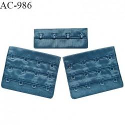 Agrafe 76 mm attache SG haut de gamme couleur cyprès 3 rangées 4 crochets largeur 76 mm hauteur 57 mm prix à l'unité